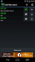 Screenshot of Call Filter Alarm