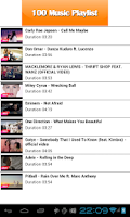 Screenshot of Top 100 Music Tube Playlist