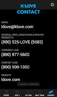 Screenshot of K-LOVE for Tablet