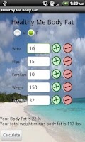 Screenshot of Healthy Me Body Fat calculator