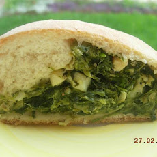 Spinach & Artichoke Stuffed Rolled Bread