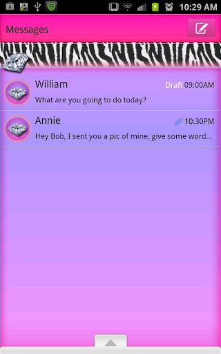 GO SMS - Candie Zebra Diamond