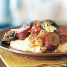 Vegetable and Sausage Ragout with Polenta