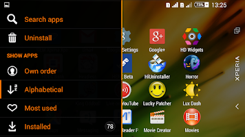 Screenshot of Theme eXPERIAnce Spectra