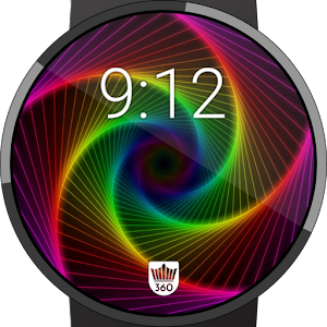 Color Spiral Watch Face