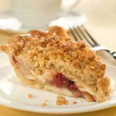 Deep Dish Apple Cranberry Pie With Oatmeal Pecan Crumb Topping Recipes ...