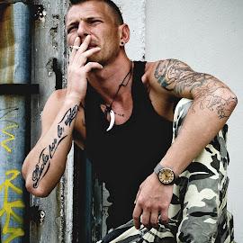 by Róbert Sulyok - People Portraits of Men