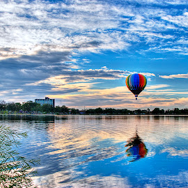 Rainbow Balloon Ride by James Martinez - Transportation Other