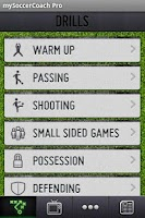 Screenshot of mySoccerCoach Lite