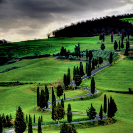 Drive over Rolling Stones by Tonino De Rubeis - Landscapes Mountains & Hills ( tuscany, landscapes, monticchiello )