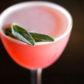 2 by Amanda Laskin - Food & Drink Alcohol & Drinks ( sage, macro, art, drink, sleek, close up )