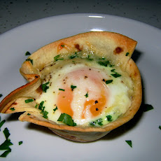 Tortilla Baked Eggs