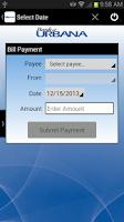 Screenshot of Bank of Urbana Mobile Banking