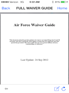 """THE"" Waiver Guide - Air Force - screenshot"