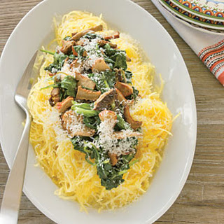 Spaghetti Squash with Sautéed Spinach