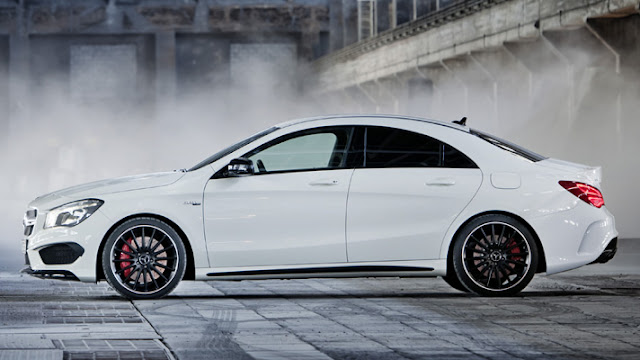 Mercedes-Benz CLA45 AMG side view