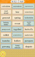 Screenshot of Learn English Filipino Words