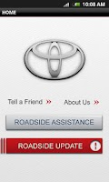 Screenshot of Toyota Roadside Assist