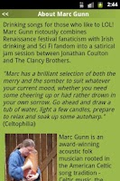 Screenshot of Marc Gunn Celtic Music
