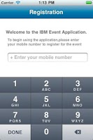Screenshot of IBM Event App