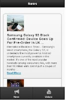 Screenshot of Galaxy S3 News & Update