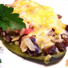 Mexican Rice Stuffed Poblano Peppers