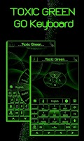 Screenshot of Toxic Green GO Keyboard Theme