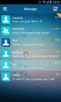 Screenshot of GO SMS Pro Z Flat Theme EX