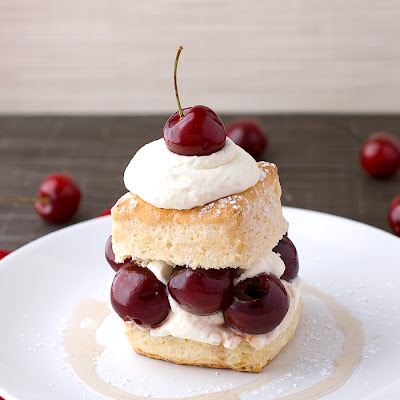 Drunken Cherry Shortcake with Vanilla Simple Syrup