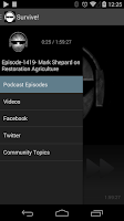 Screenshot of The Survival Podcast