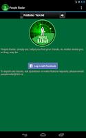 Screenshot of People Radar