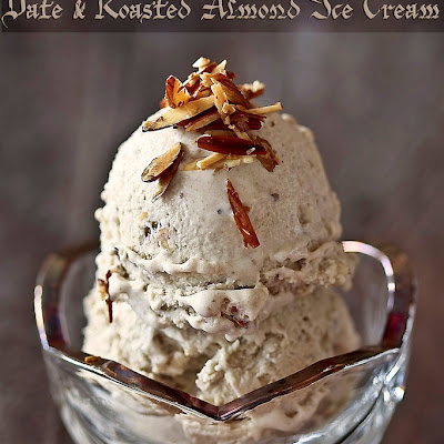 Date And Roasted Almond Ice Cream