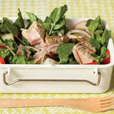 Grilled Tuna-and-Watercress Salad