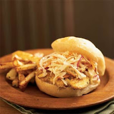 Ozark Catfish Sandwich with Warm Pan Slaw