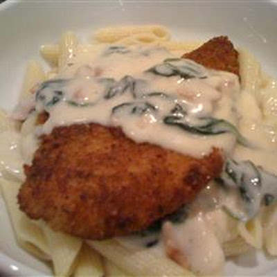 Chicken with Prosciutto Spinach Cream Sauce
