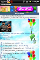 Screenshot of Tamil Songs Downloads