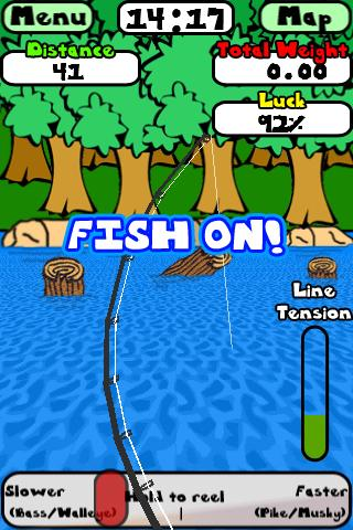 doodle-fishing-lite for android screenshot