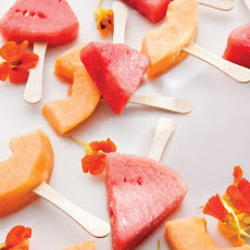 Frozen Melon-Margarita Pops