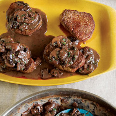 Filets Mignons with Mushroom Sauce