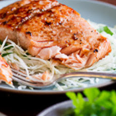 Japanese-style Glazed Pan Seared Salmon