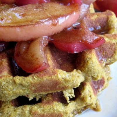 Pumpkin Apple Spice Waffles