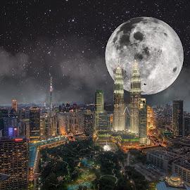 Kuala Lumpur by Karazy Shooke - Digital Art Places ( klcc, night, landscape, place, kuala lumpur )