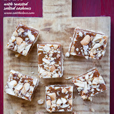 Caramel Bars with Salted Cashews
