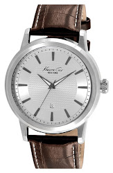 Kenneth Cole New York Round Leather Strap Watch, 46mm