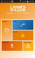 Screenshot of Lignes d'Azur Mobile