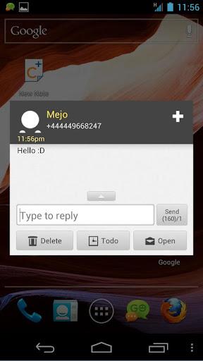 GO SMS Orange Theme