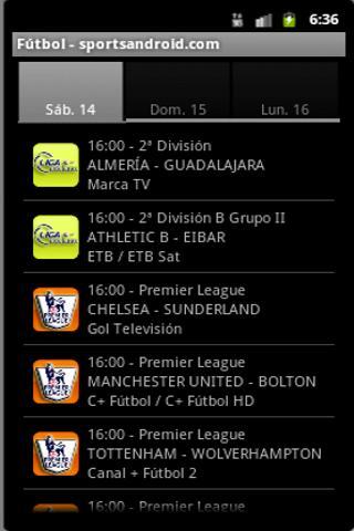 Futbol TV - sportsandroid.com