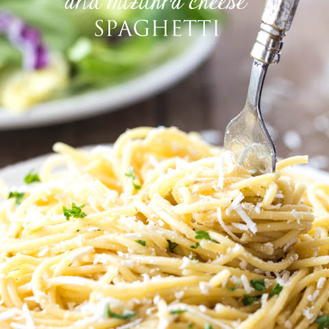 Browned Butter and Mazithra Cheese Spaghetti