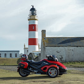 Motorbikes & Lighthouses by Paul Milligan - Landscapes Travel ( countryside, isle of man, motorcycle, scenic, landscape )