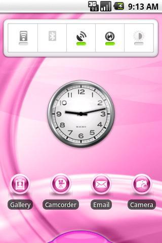 【免費個人化App】aHome Theme: Flow (Pink)-APP點子